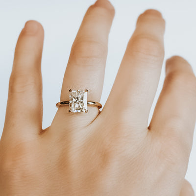 Jenny Radiant Cut Moissanite Engagement Ring