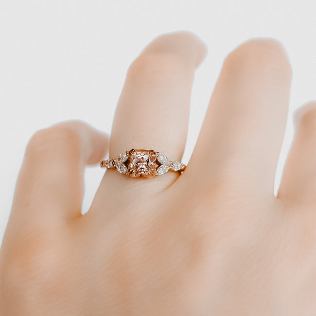 *In Stock* Anastasia Rosé Sapphire Engagement Ring (Rose Gold)