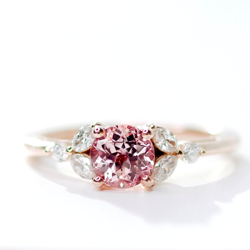 *In Stock!* Camelia Champagne Sapphire Engagement Ring