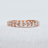 *In Stock* Abigail Rose Cut Moissanite Eternity Band (Rose Gold)