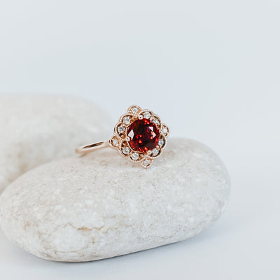 Bella Ruby Engagement Ring