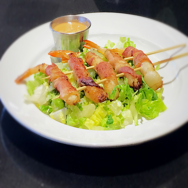 Bacon wrapped shrimps. At KopëPot, we make it easy to order. Try our food delivery service today! Food delivered in Sunnyvale, Mountain View, Palo Alto, Milpitas, Stanford, San Jose and more