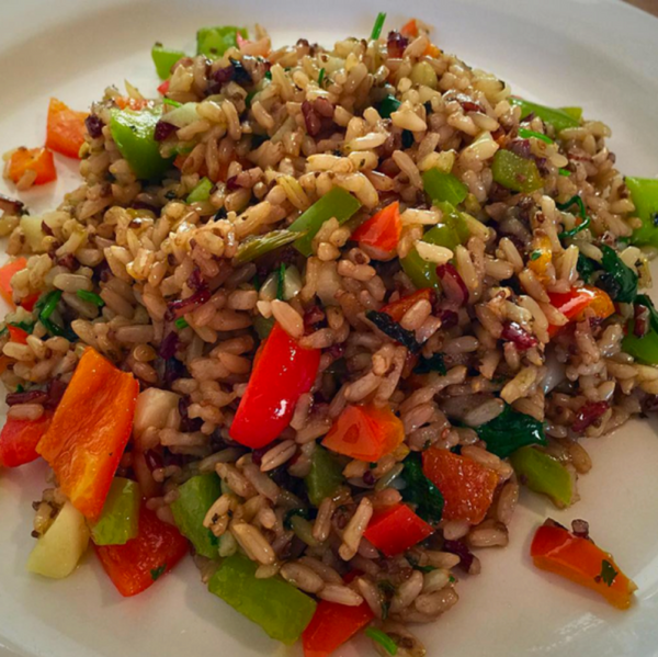 Brown Rice Pilaf. At KopëPot, we make it easy to order. Try our food delivery service today! Food delivered in Sunnyvale, Mountain View, Palo Alto, Milpitas, Stanford, San Jose and more
