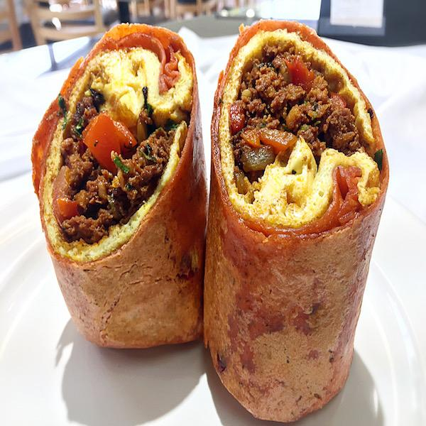 Chorizo and Cheese Breakfast Burrito. At KopëPot, we make it easy to order. Try our food delivery service today! Food delivered in Sunnyvale, Mountain View, Palo Alto, Milpitas, Stanford, San Jose and more