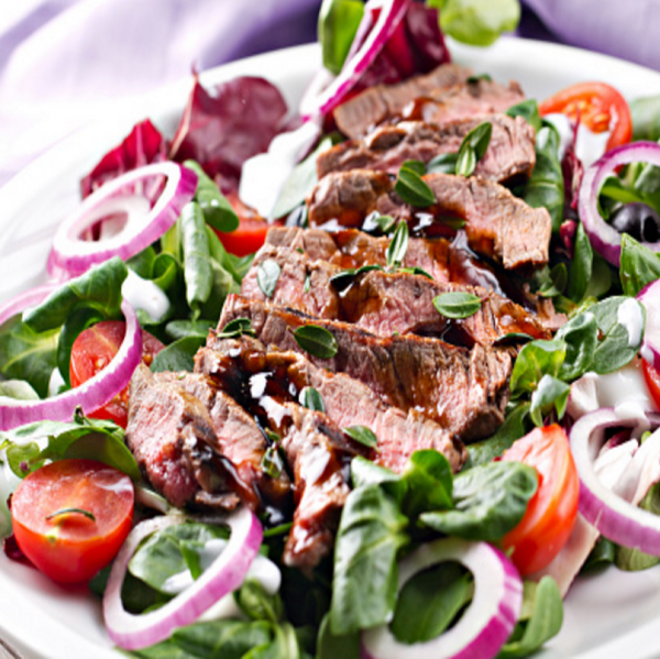 Flank Steak Salad Trey