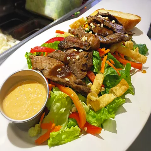 Thai Beef Salad. At KopëPot, we make it easy to order. Try our food delivery service today! Food delivered in Sunnyvale, Mountain View, Palo Alto, Milpitas, Stanford, San Jose and more