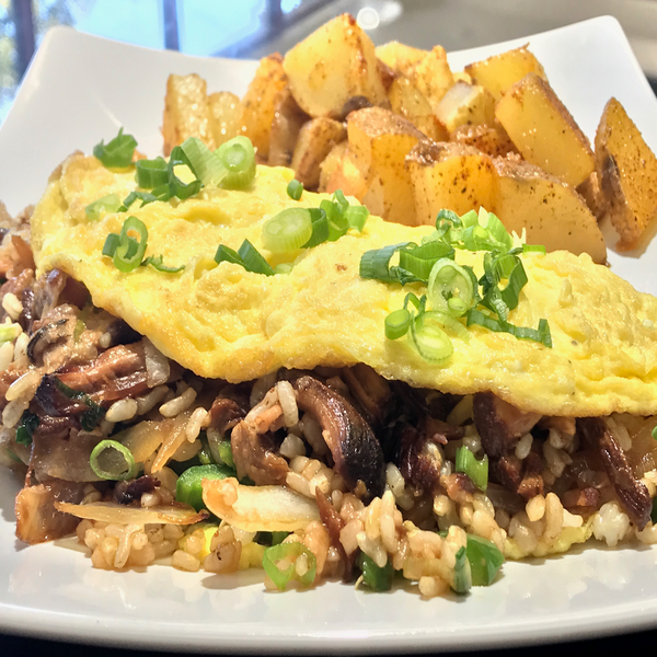 The Belly Omelette. At KopëPot, we make it easy to order. Try our food delivery service today! Food delivered in Sunnyvale, Mountain View, Palo Alto, Milpitas, Stanford, San Jose and more