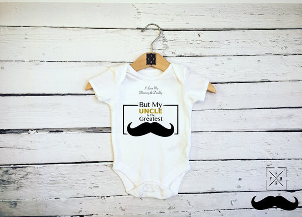 "Baby Bodysuit ""Greatest Uncle""-Baby Body Suits-EnryPrint.com"