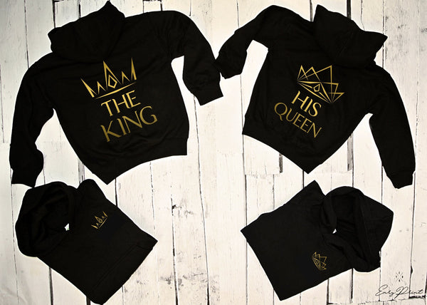 "HOODIE for couple ""KING AND QUEEN""-Hoodies-EnryPrint.com"