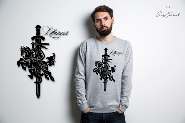 "Sweatshirt ""Coat of arms of Lithuania""-T-Shirts-EnryPrint.com"