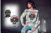 "Sweatshirt ""King and Queen skull ornament""-Hoodies-EnryPrint.com"