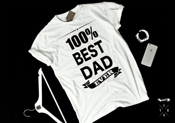 "T-shirt ""100% BEST DAD""-T-Shirts-EnryPrint.com"
