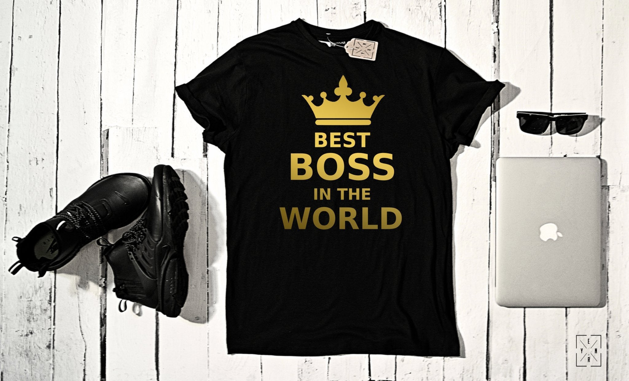 "T-shirt ""BEST BOSS""-T-Shirts-EnryPrint.com"
