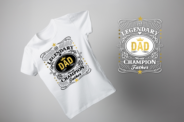 "T-shirt for DAD ""DAD LEGENDARY""-T-Shirts-EnryPrint.com"