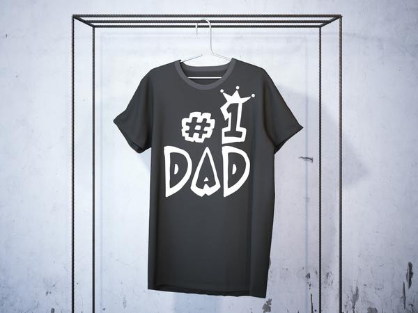"T-shirt for DAD ""dad no1""-T-Shirts-EnryPrint.com"