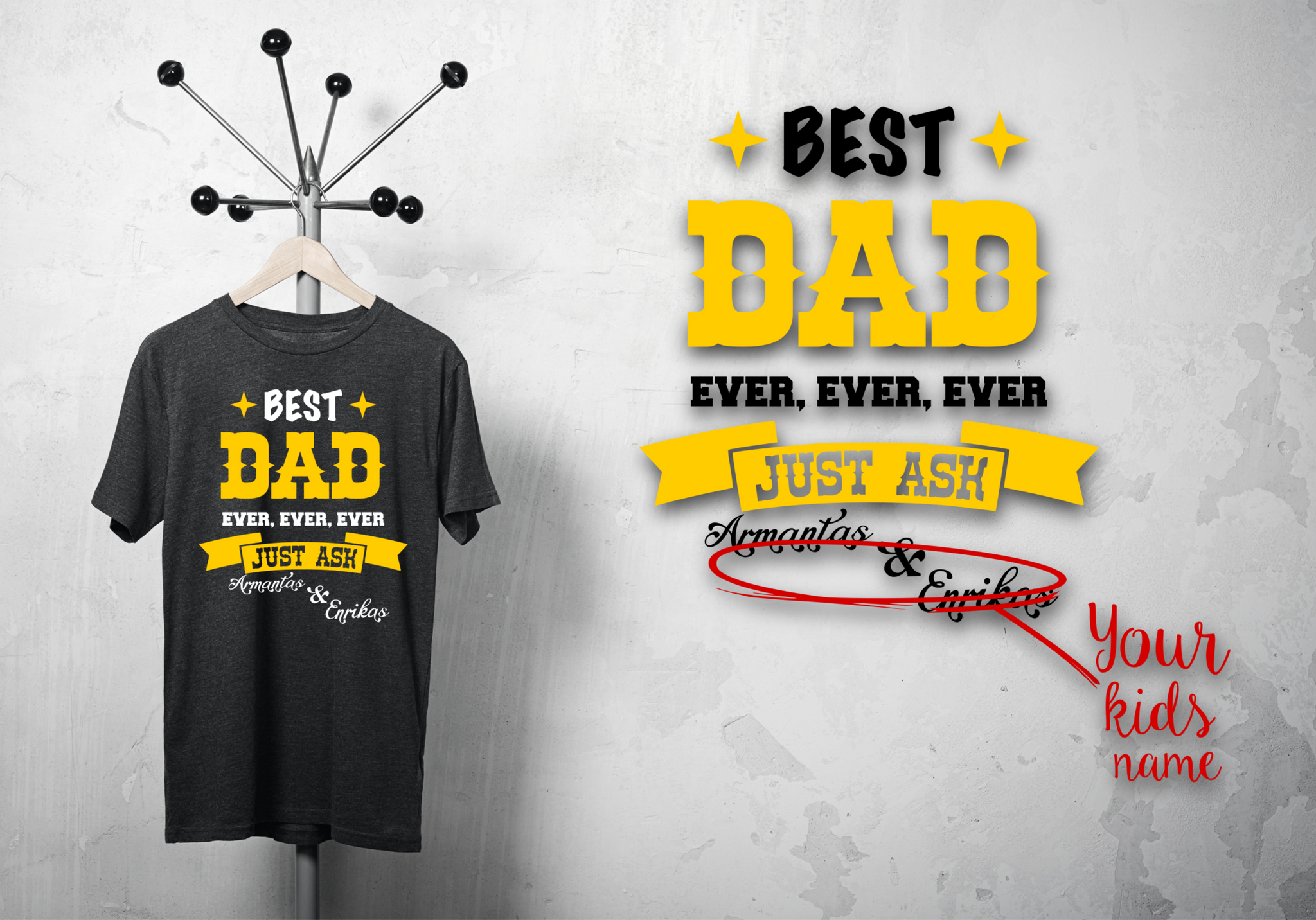 "T-shirt for DAD ""just ask""-T-Shirts-EnryPrint.com"