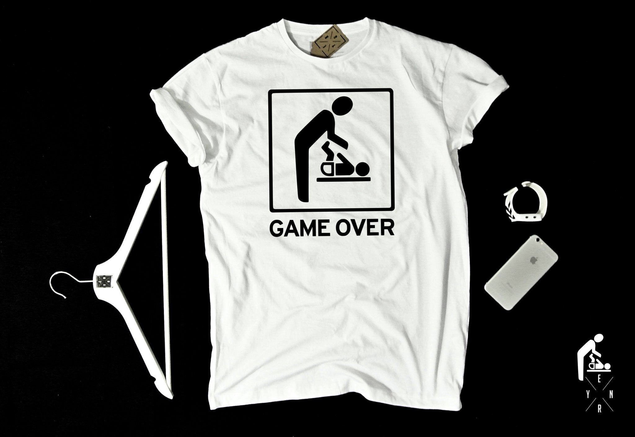 "T-shirt ""GAME OVER""-T-Shirts-EnryPrint.com"