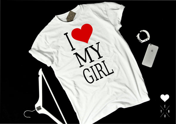 "T-shirt ""LOVE MY GIRL""-T-Shirts-EnryPrint.com"