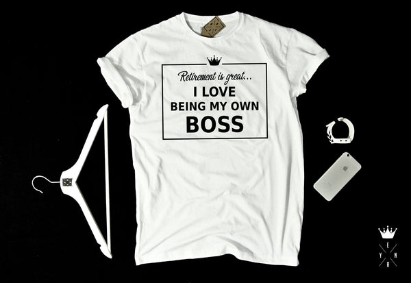"T-shirt ""OWN BOSS""-T-Shirts-EnryPrint.com"