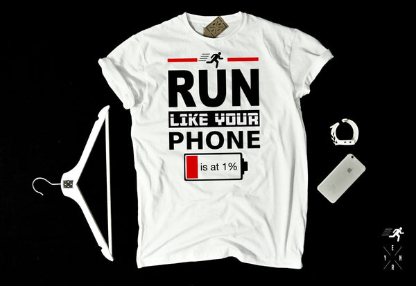 "T-shirt ""RUN""-T-Shirts-EnryPrint.com"