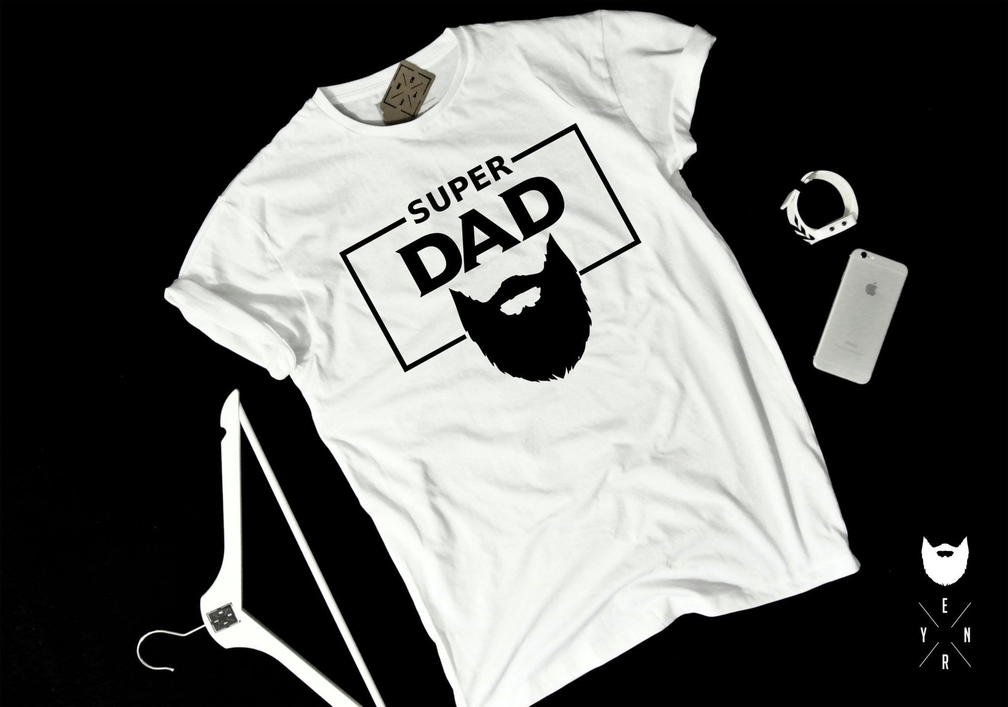 "T-shirt ""SUPER DAD""-T-Shirts-EnryPrint.com"
