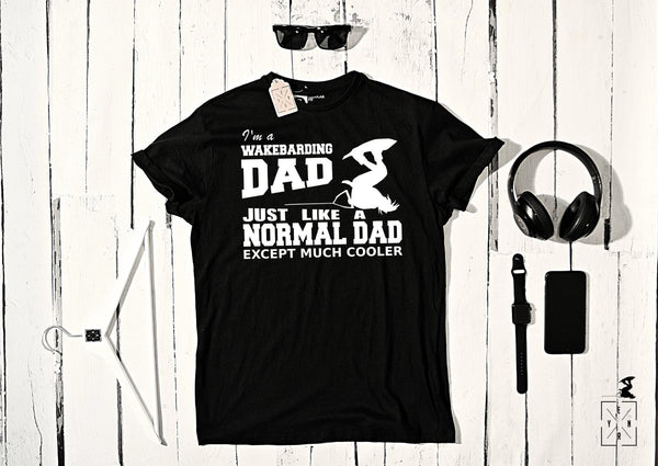 "T-shirt ""WAKEBOARDING DAD""-T-Shirts-EnryPrint.com"