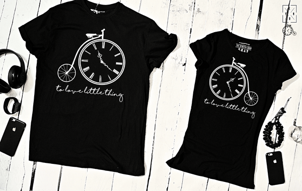 "T-shirts for couple ""Clock""-T-Shirts-EnryPrint.com"