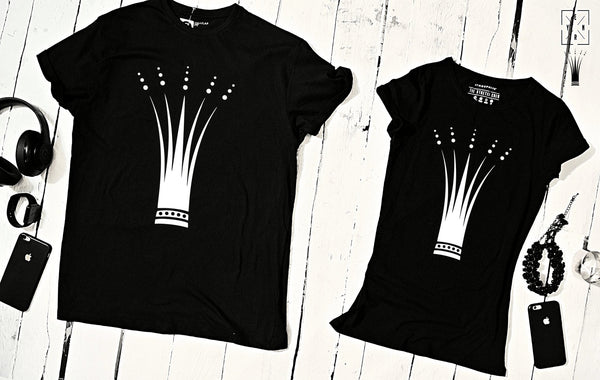 "T-shirts for couple ""CROWN""-T-Shirts-EnryPrint.com"