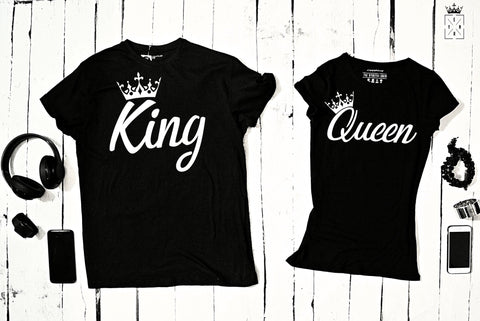 "T-shirts for couple ""KING&QUEEN""-T-Shirts-EnryPrint.com"