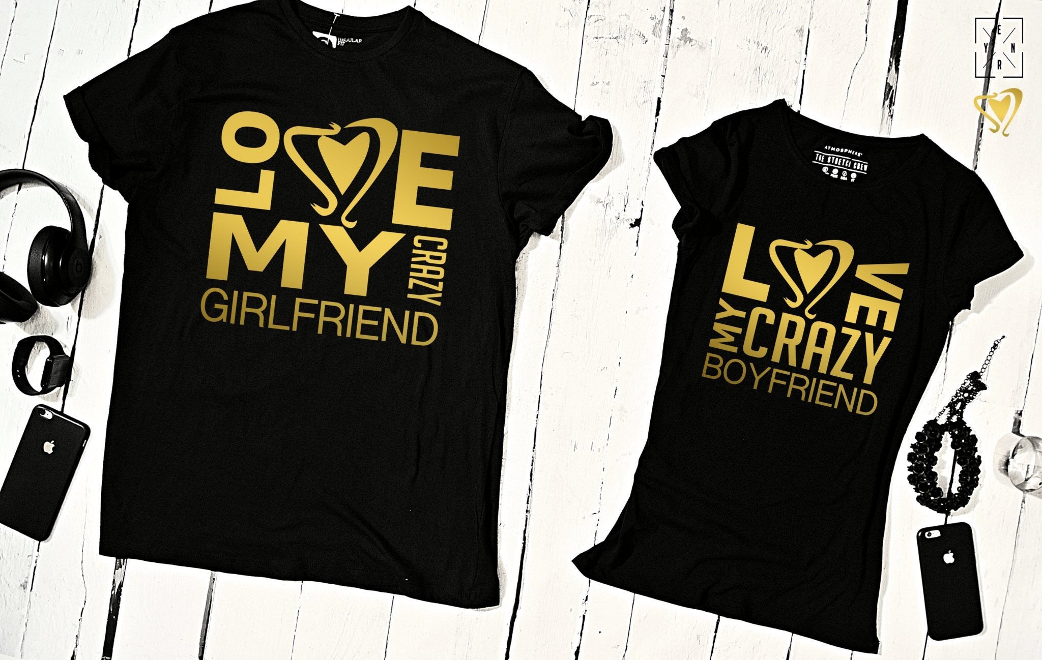 "T-shirts for couple ""LOVE BOY LOVE GIRL""-T-Shirts-EnryPrint.com"