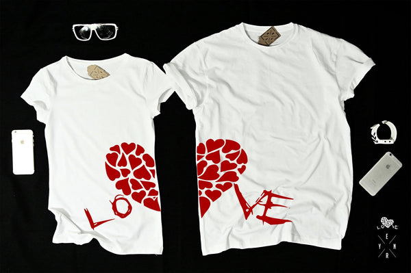 "T-shirts for couple ""LOVE""-T-Shirts-EnryPrint.com"