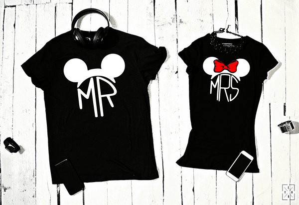 "T-shirts for couple ""Mickey MR&MRS""-T-Shirts-EnryPrint.com"