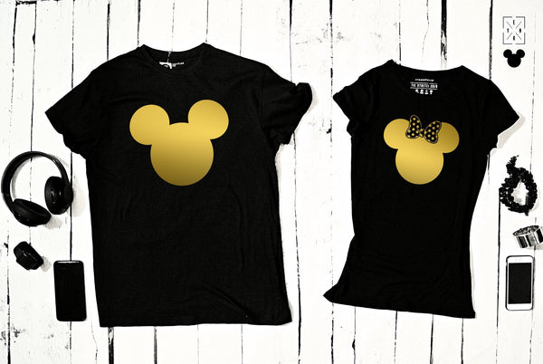 "T-shirts for couple ""MINNIE & MICKEY ""-T-Shirts-EnryPrint.com"
