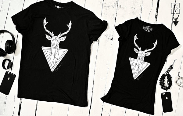 "T-shirts for couple ""OH DEER""-T-Shirts-EnryPrint.com"