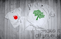 T-shirts for dad and child