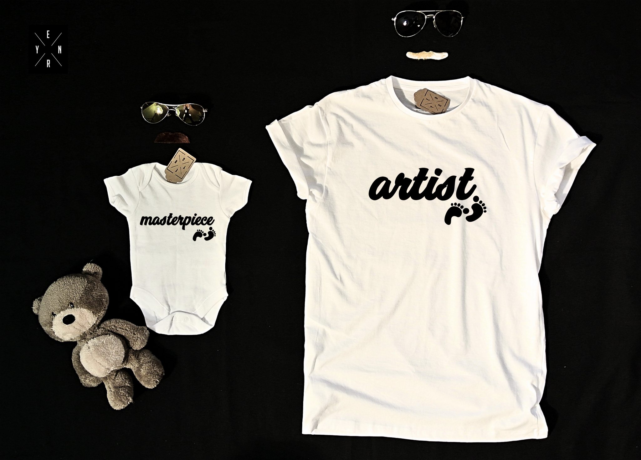 "T-shirts for Dad and child ""ARTIST AND MASTERPIECE""-T-Shirts-EnryPrint.com"