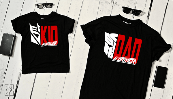 "T-shirts for dad and child ""dad former kid former""-T-Shirts-EnryPrint.com"