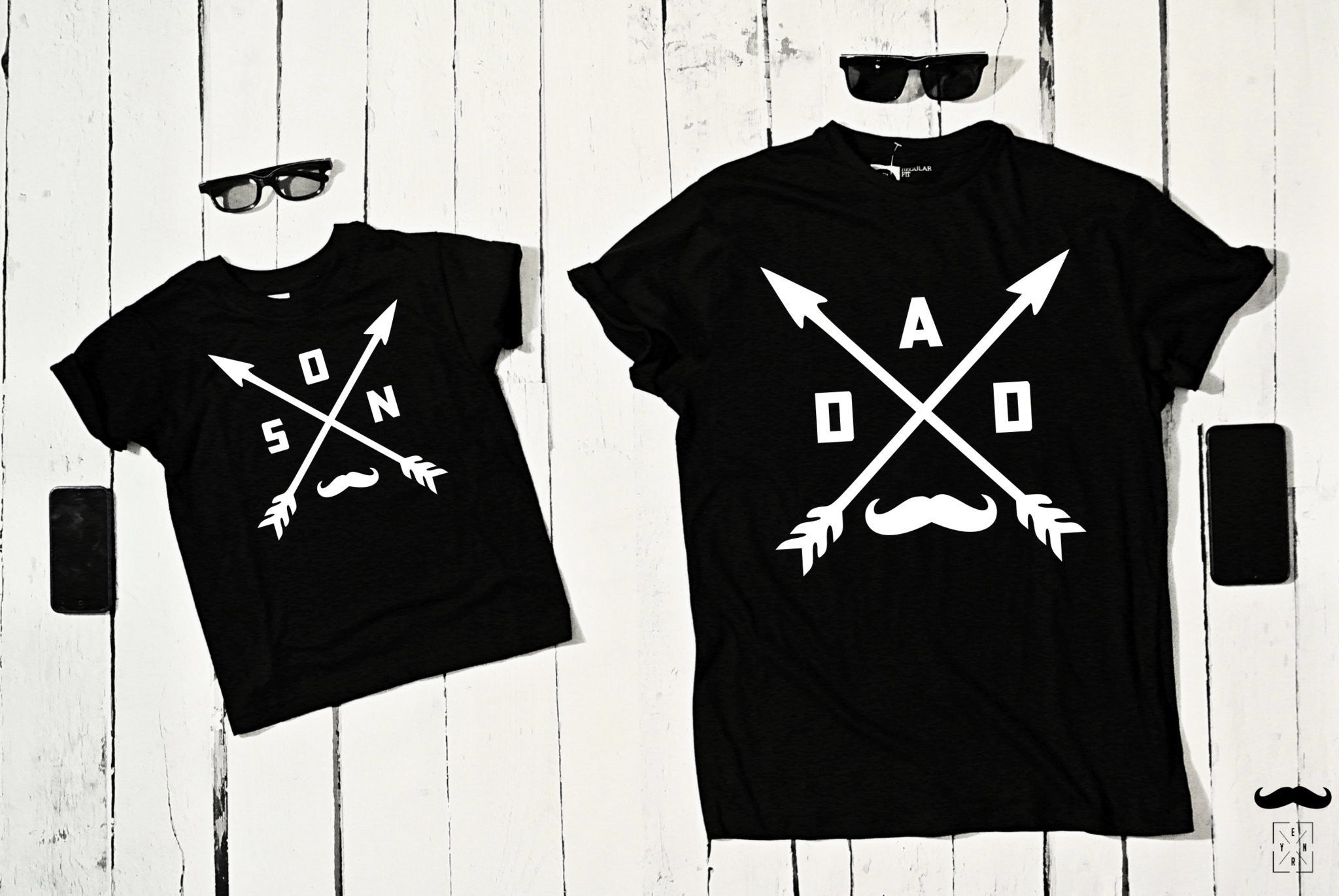 "T-shirts for Dad and child ""DAD & SON""-T-Shirts-EnryPrint.com"