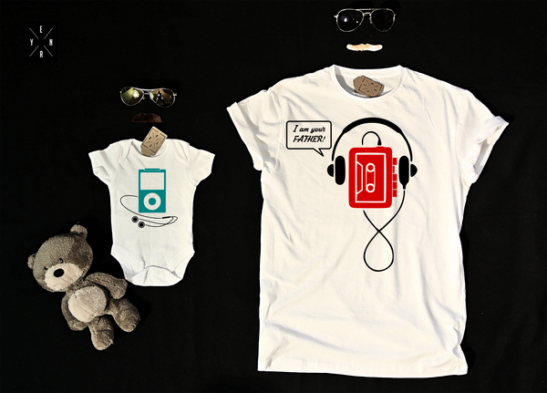"T-shirts for Dad and child ""VINTAGE DAD""-T-Shirts-EnryPrint.com"