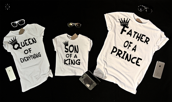 "T-shirts for family ""king queen and prince""-T-Shirts-EnryPrint.com"