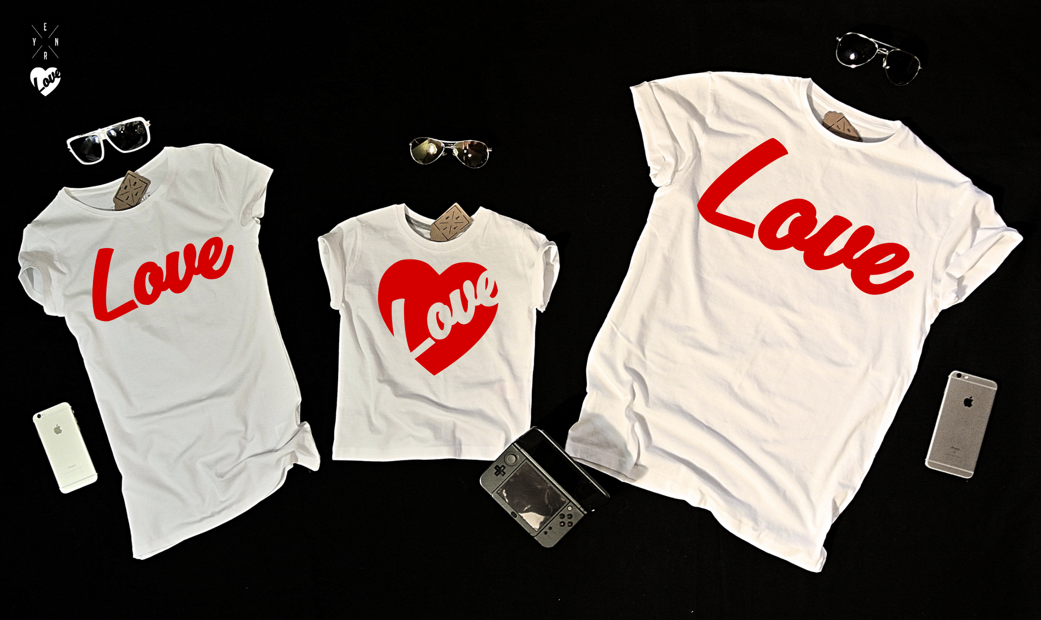 "T-shirts for family ""love""-T-Shirts-EnryPrint.com"