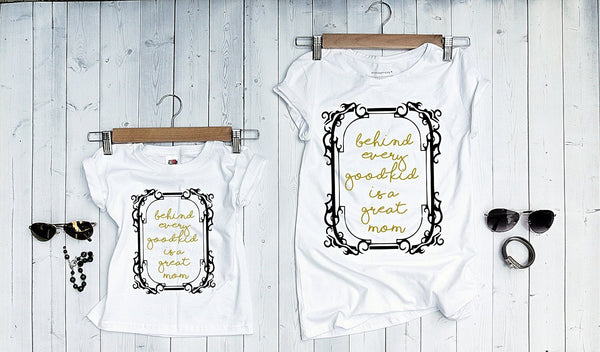 "T-shirts for Mom and child ""great mom""-T-Shirts-EnryPrint.com"