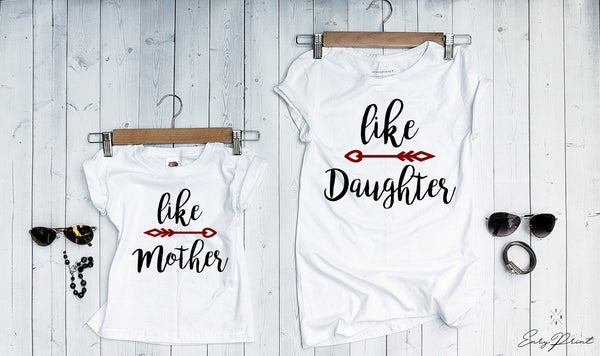"T-shirts for Mom and child ""LIKE""-T-Shirts-EnryPrint.com"