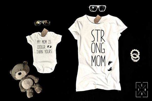 "T-shirts for Mom and child ""STRONG MOM""-T-Shirts-EnryPrint.com"