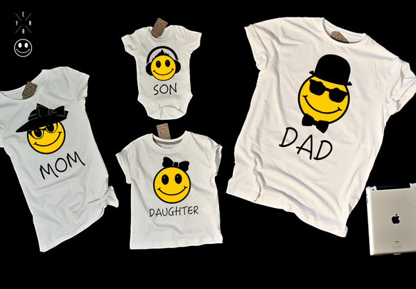 "T-shirts for ""smile family""-T-Shirts-EnryPrint.com"