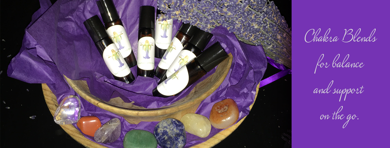 Panacea Therapies proprietary chakra collection essential oil blends for balance and support on the go