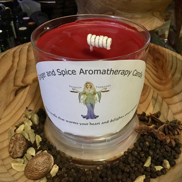 Ginger and Spice aromatherapy candle