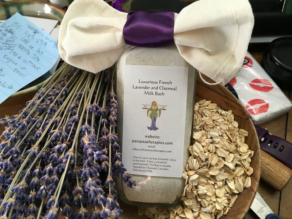 Lavender and Oatmeal Milk Bath