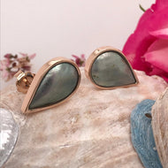 Silvery TearDrop Earrings