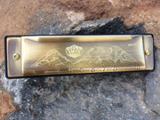 Sound Smith Harmonica SSH-10 - Key of C - SOUND SMITH  Harmonica - 10-hole harmonica - bronze harmonica - sisters, oregon - gifts